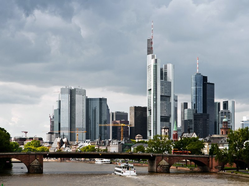Frankfurt city skyscrapers in the downtown; Shutterstock ID 121793464; Departmental Cost Code: 164400; Project Code: P88430