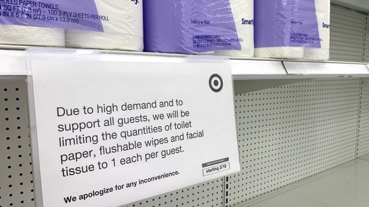 notice on limiting the quantity of toilet papers in shops