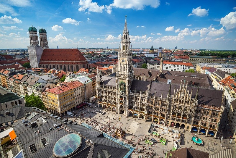 Aerial view at Marienplatz town hall - Munich - Germany; Shutterstock ID 300147488; Departmental Cost Code: redownload; Project Code: redownload; PO Number: redownload; Other: redownload